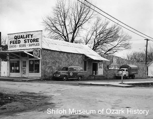 Quality Feed Store, Springdale, Rogers, or Huntsville, Arkansas, 1950s.
