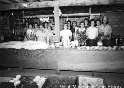 Lunch ladies, Mt. Zion Missionary Baptist Youth Camp near Springdale, Arkansas, June 1970.