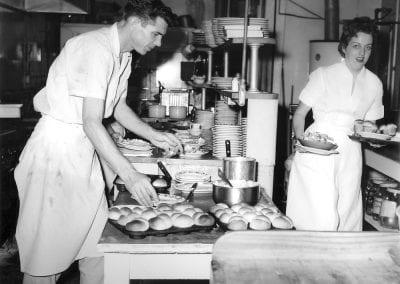 King Chicken restaurant, Fayetteville, Arkansas, January 1959.