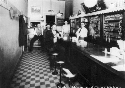 East Side Café, Springdale, Arkansas, mid 1920s.