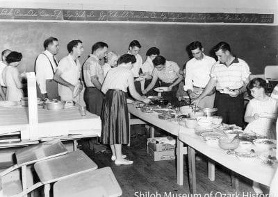 Community supper, Springdale, Arkansas, 1950s.