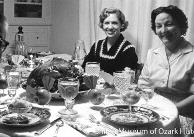 Thanksgiving celebration, Fayetteville, Arkansas, November 1962.