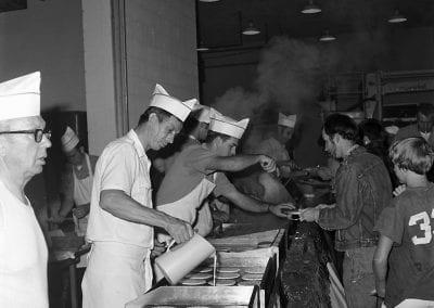 Pancake breakfast, Central Fire Station, Fayetteville, Arkansas, October 1973.