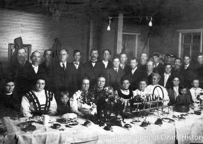 Fireman's banquet, Fayetteville, Arkansas, 1907.