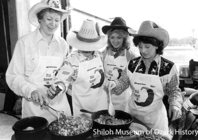 Chili Cookoff contestants, Springdale, Arkansas, October 1984.
