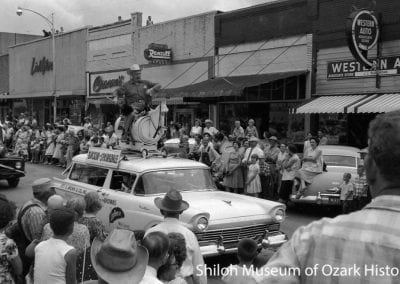 Rodeo of the Ozarks parade, Springadale, AR, 1958
