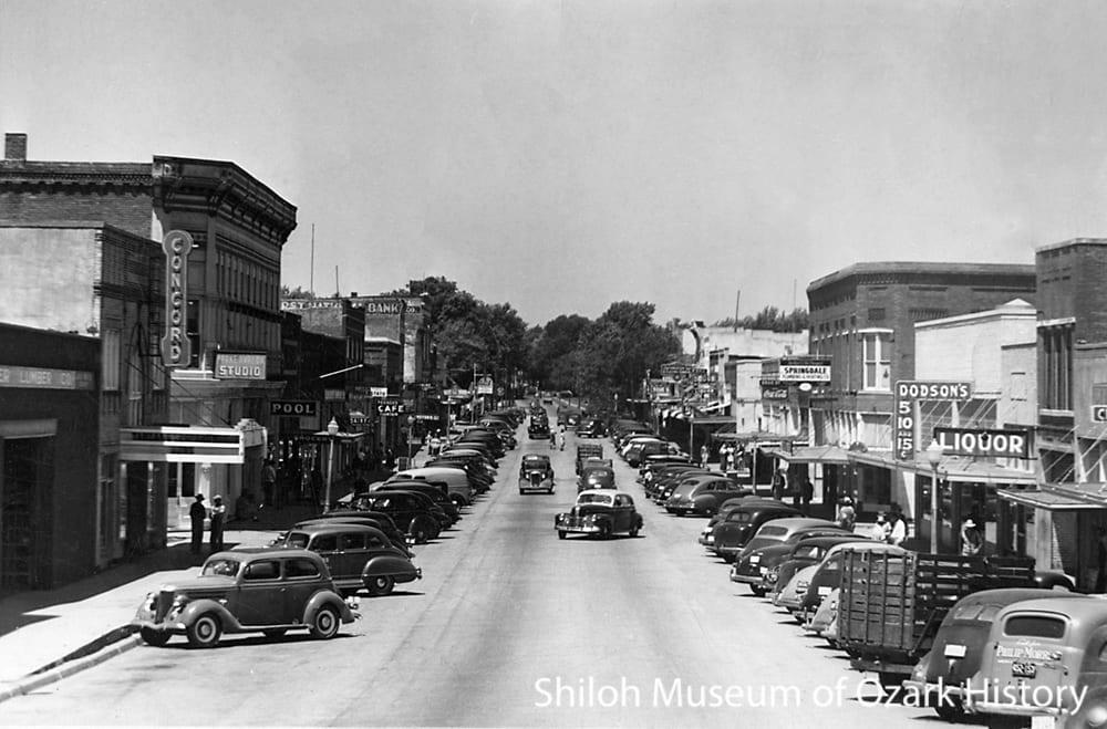 Emma Avenue, Springdale, AR, 1950s.