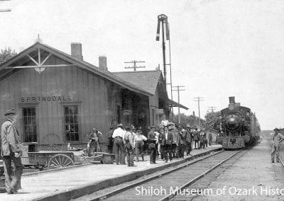 Frisco Depot, Springdale, AR, circa 1910.