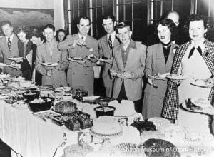 Community fundraising dinner at Elm Springs, 1952. Springdale Chamber of Commerce Collection/McRoberts, photographer (S-85-20-64)