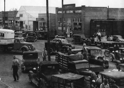 Strawberry market, Springdale, AR, late 1930s-early 1940s