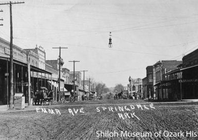 Looking east on Emma Avenue, near the intersection of Main and Emma, early 1900s,