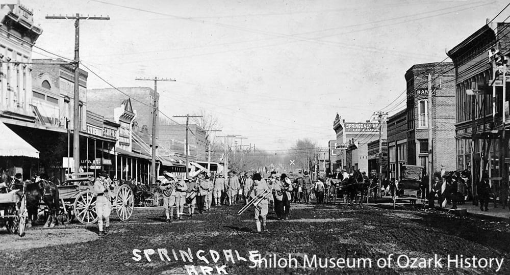 Parade, Springdale, AR, early 1900s