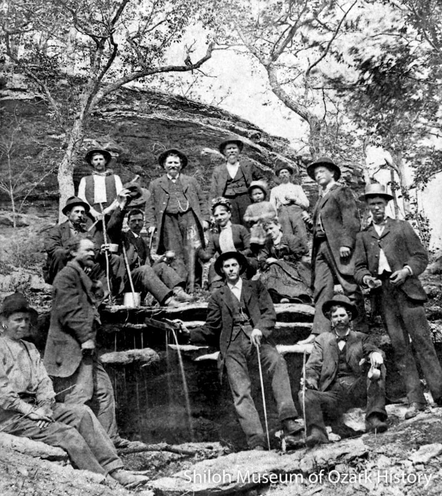 Health seekers by spring, Eureka Springs, Arkansas, circa 1881