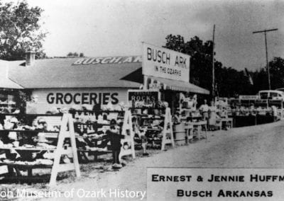 Busch Camp and store, Busch (Carroll County), Arkansas, 1940s–1950s.