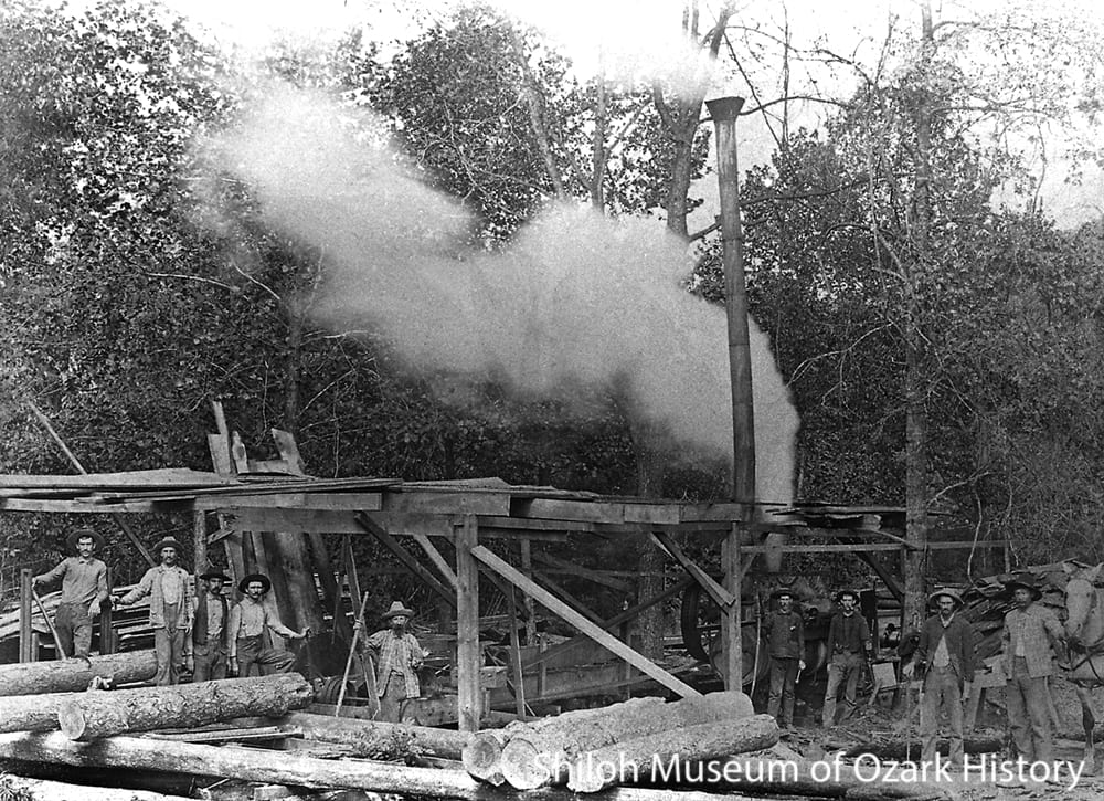 A. L. Hanby's steam-powered sawmill, Winona, Arkansas, 1890s-1900s.
