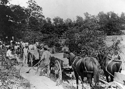 Road construction near Oak Grove (Carroll County), Arkansas,, 1910s.
