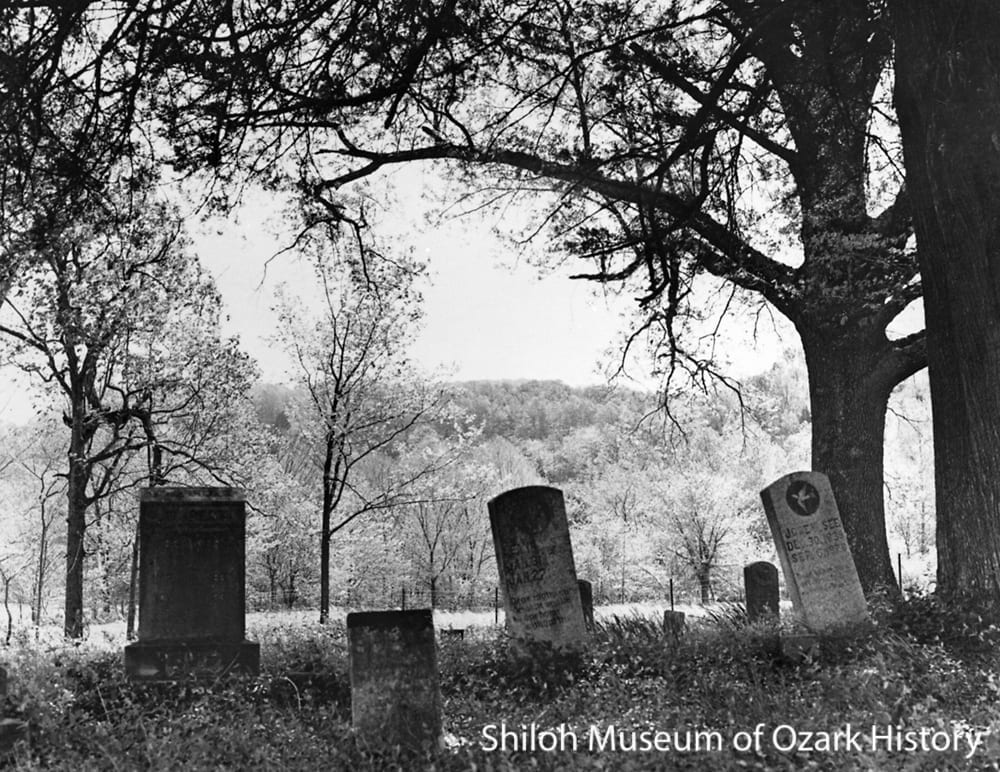 Sneed Cemetery, Osage, Arkansas, mid-late 1900s..