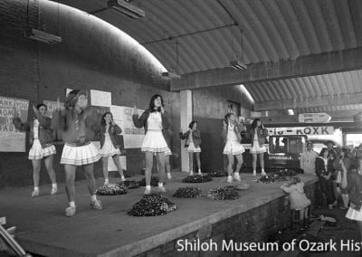 Springdale High School pep rally, Shiloh Square, Springdale, AR, December 3, 1980.