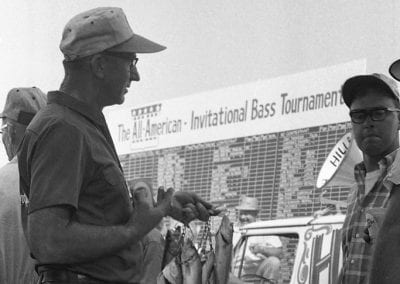Daily weigh-in at the All-American Invitational Bass Tournament, near Lowell, Arkansas, June 1967.