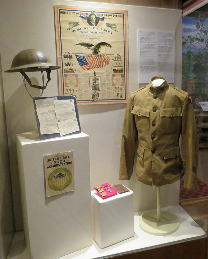 World War I exhibit, Shiloh Museum of Ozark History