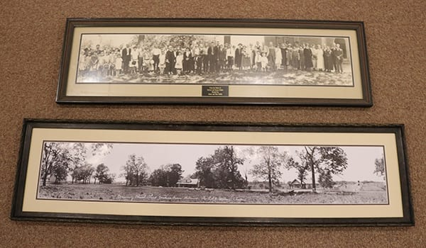 J. C. Hawkins' 1925 panoramic photos recently brought in by Rev. John E. King on behalf of the Administrative Commission for Walnut Grove Presbyterian Church.