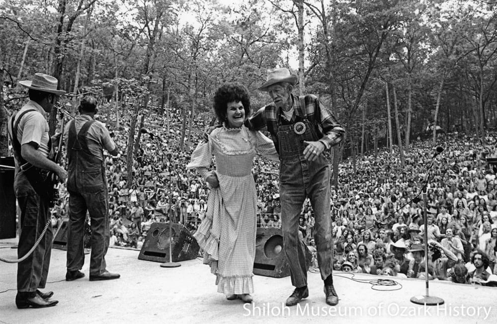 """First Dance"" at the Ozark Mountain Folkfair, Eureka Springs, Arkansas, May 1973."