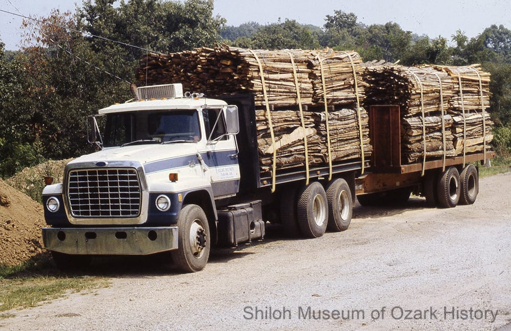 Logging truck, Newton County, Arkansas, 1970s-1980s.