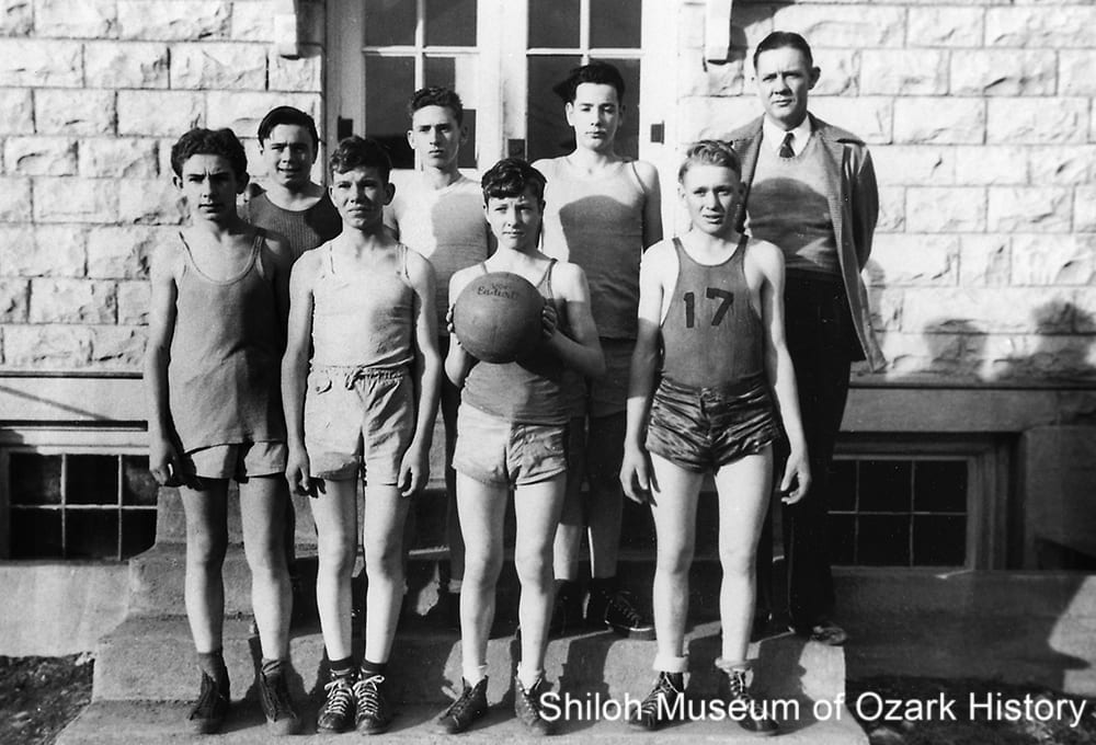Junior basketball team, Berryville Public School, 1947.