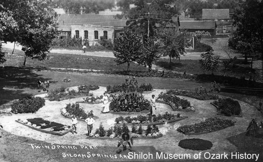 Twin Springs Park, Siloam Springs, Arkansas, late 1910s.