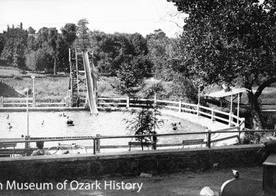 Swimming pool, Wilson Park, Fayetteville, about 1930.