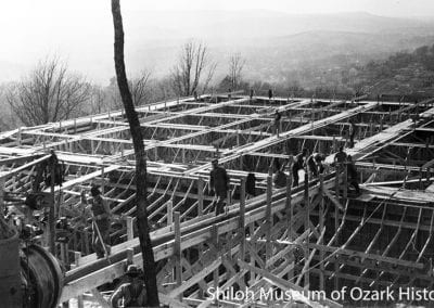 Reservoir site, Fayetteville Water and Sewer Works, Mt. Sequoyah, Fayetteville, January 1927. Carl Smith, photographer. Ada Lee Shook Collection (S-98-85-1397)