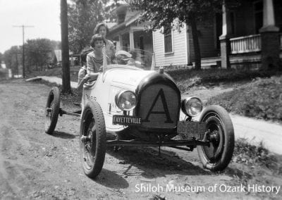"""Arkansas Traveler"" car built by Carl Smith, Locust Street, Fayetteville, about 1924."
