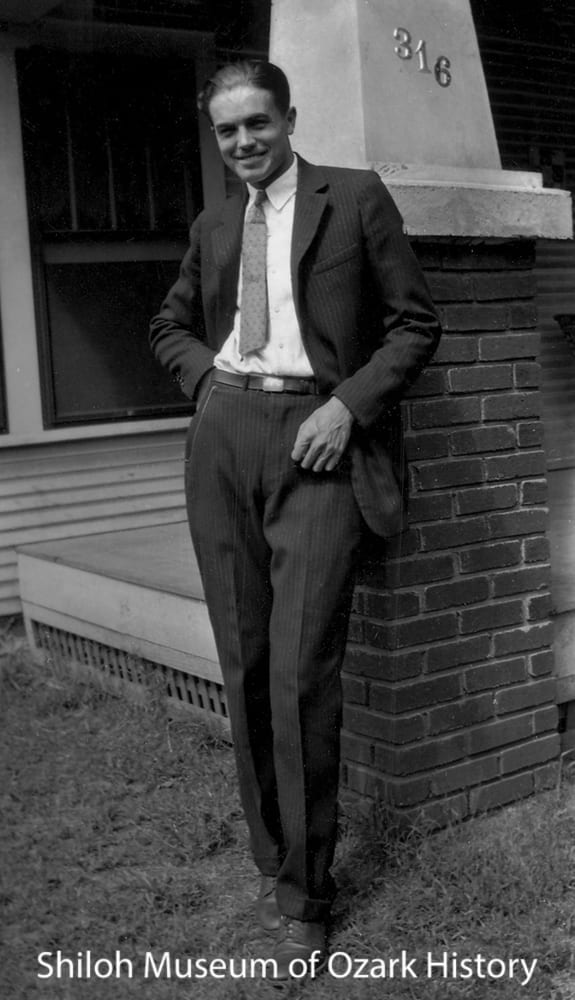 Carl Smith at the Slaughter home, Fayetteville, circa 1925.