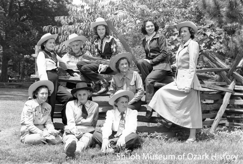 Early rodeo organizers, Shiloh Park, Springdale, Arkansas, 1949.