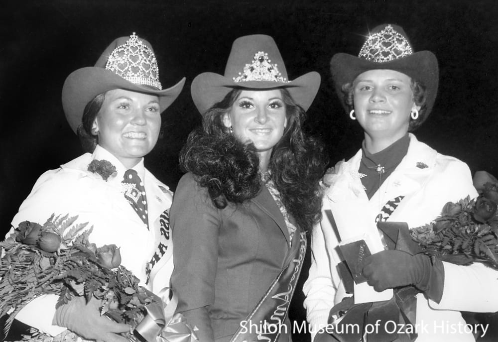 Rodeo queens, Parsons Stadium, Springdale, Arkansas, July 4, 1975