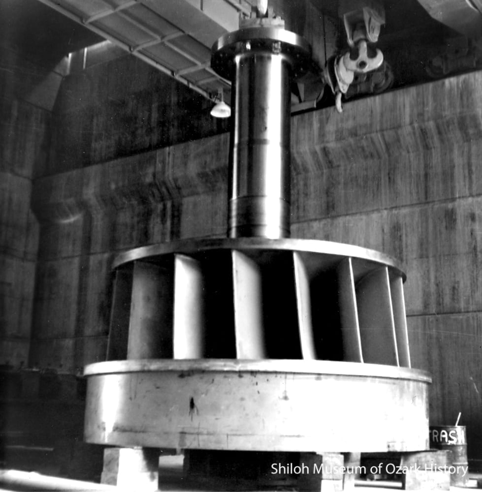 One of two turbines, May 1964.