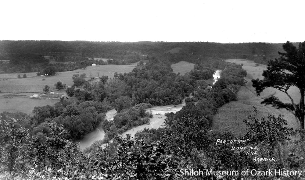 The White River as seen from Panorama Point near Monte Ne, circa 1920.  W. B. Grabill Collection (S-86-210-4)
