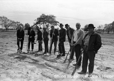 Ground breaking for Phillips Plaza, a low-rent housing development built on labor camp property, Springdale, October 16, 1969.
