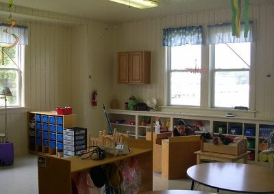 A Head Start classroom in the old labor camp community building, Springdale, August 2007.