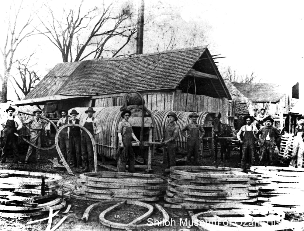 Wagon bow yard at Noah Johnson's sawmill, Drakes Creek (Madison County), 1908.
