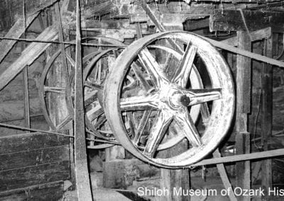 11. Belts and pulleys, Johnson Mill, Johnson (Washington County), 1985.