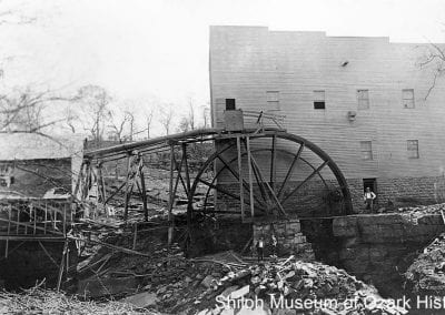 Buchanan-Moore Mill (previously Pyeatte-Moore Mill), Cane Hill (Washington County), circa 1910.