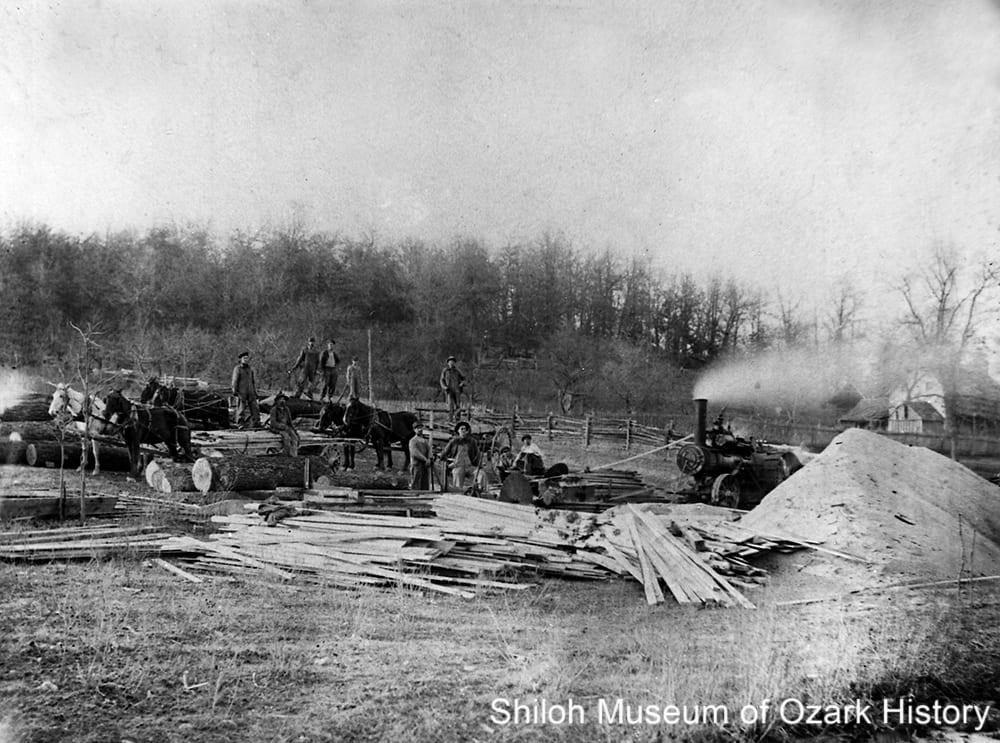 Sawmill, Bentonville/Hiwasse area (Benton County), 1900s-1910s.