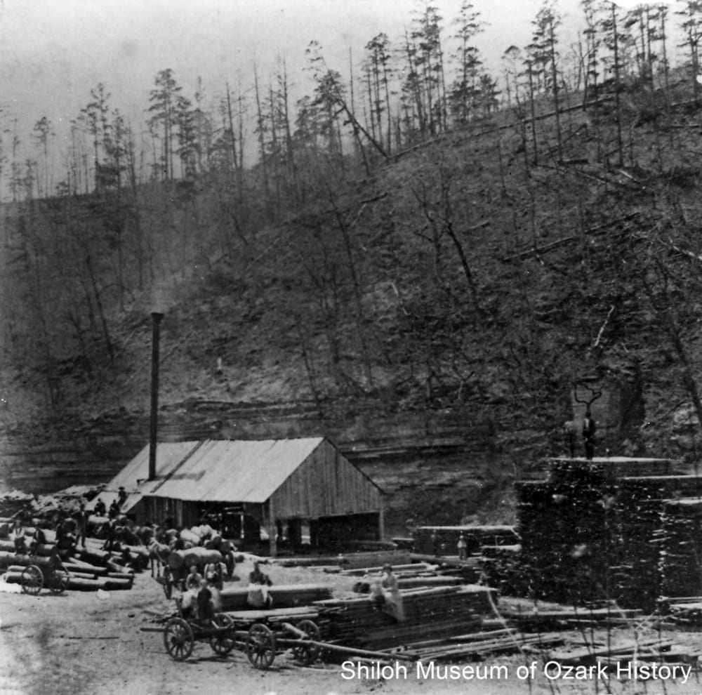 Probably the Van Winkle sawmill, War Eagle area (Benton County, Arkansas), 1880s-1890s.
