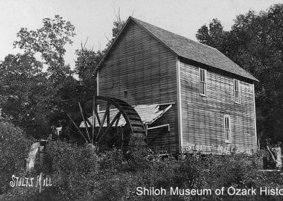 6. Breastshot wheel, Stultz Mill, Springdale, 1900s.