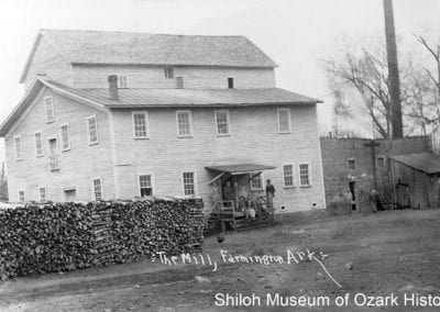 Farmer's Alliance and Industrial Union Milling Company (previously Engels Mill, later Ozark Milling Company), Farmington (Washington County), 1900s-1910s.