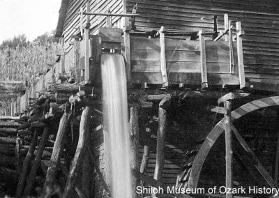 3. Flume, Lee-Helbert Mill, Reece Community (southeast of Elkins, Washington County), about 1900.