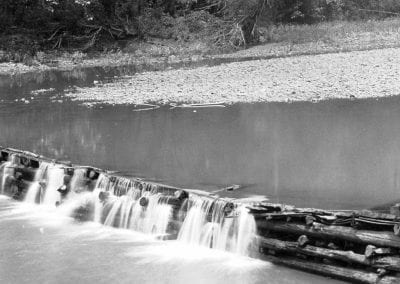 War Eagle River dam, Hawkins Mill, Huntsville (Madison County), 1940s.