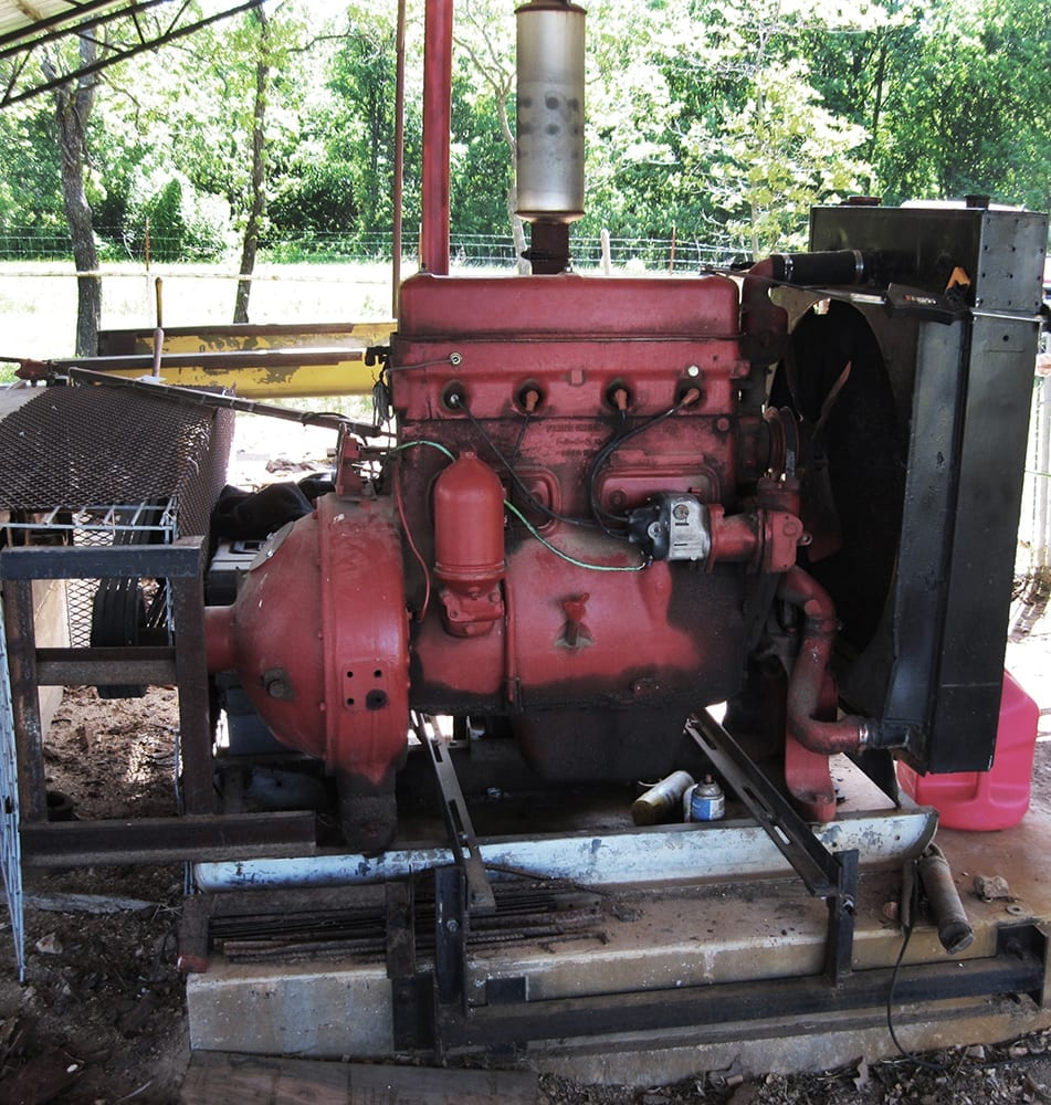 Sawmill engine and mandrel