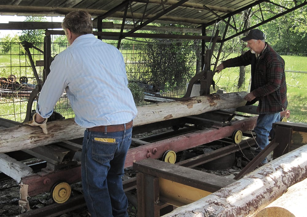 Loading log in a sawmill